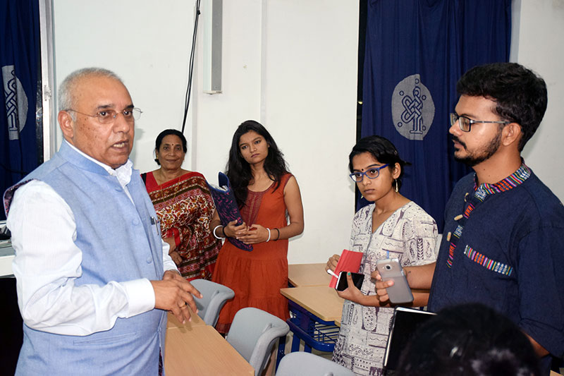 Interaction with the students-1