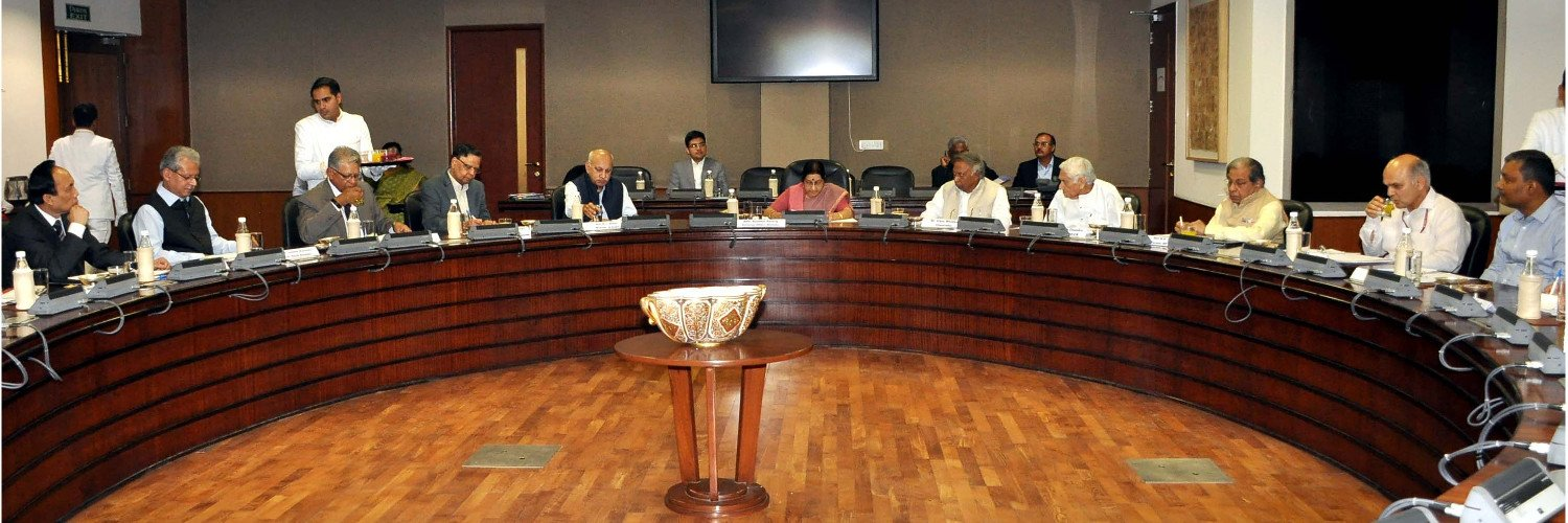 Board Members Meeting with Smt. Sushma Swaraj