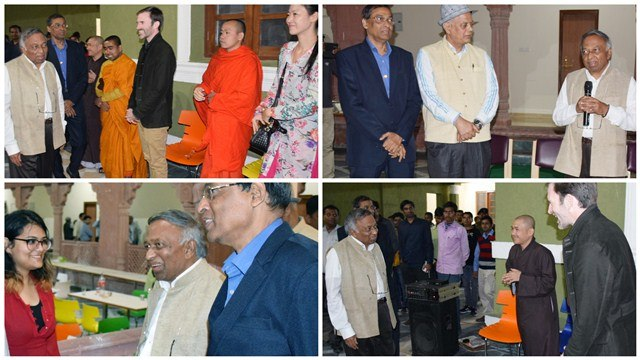 Chancellor Bhatkar Meets University Community at Ajatshatru