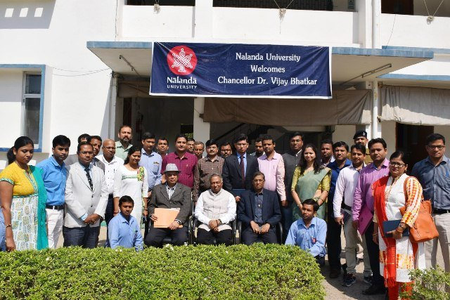 Chancellor Bhatkar with University's Administrative Staff