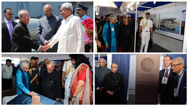 President of India laying the foundation stone of the University