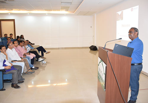 The Faculty members interacting with the students during the School's Orientation