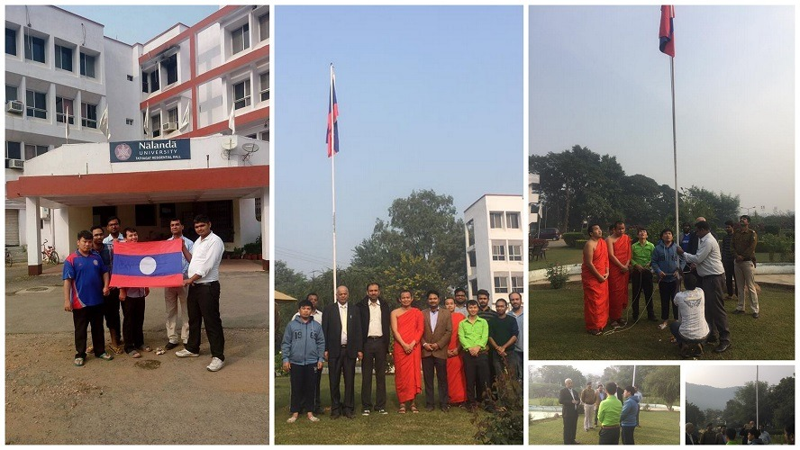 Laos national day celebration at Nalanda University