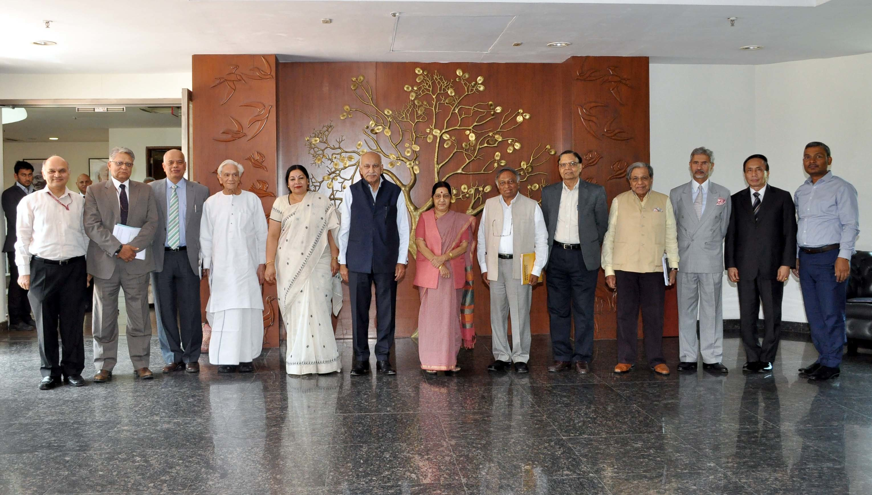 External Affairs Minister Meets GB Members