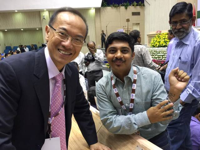 Saket Agasti with Chancellor Yeo at the 3rd Asia Ministerial Conference on Tiger Conservation