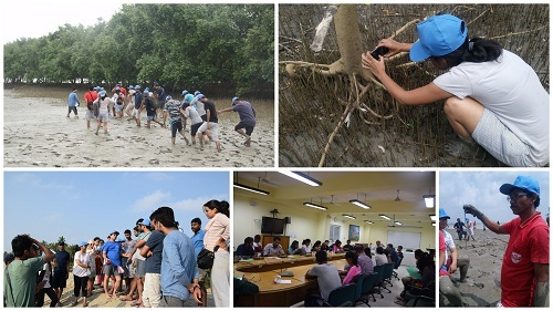 Students while exploring various ecosystems of Sagar Island