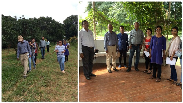 Students and Faculty at the Field Trip to Birsa Agricultural University, Ranchi