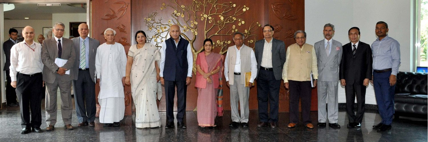 Sushma Swaraj Meets Nalanda University Governing Board Members